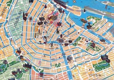 Amsterdam mappe e panoramiche foto e photogallery for Centro di amsterdam