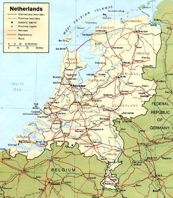 Cartina Olanda Fisica.Amsterdam Come Raggiungere L Olanda I Trasporti